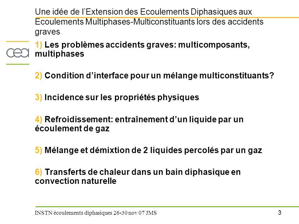 Une idée de l'Extension des Ecoulements Diphasiques aux Ecoulements Multiphases-Multiconstituants lors des accidents graves