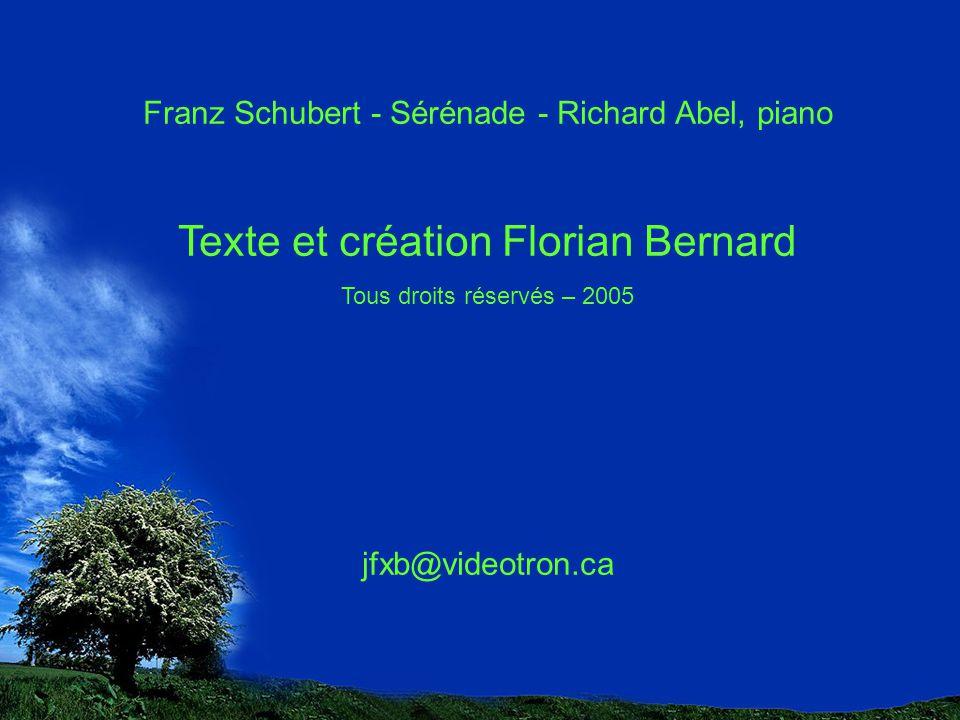 Texte et création Florian Bernard