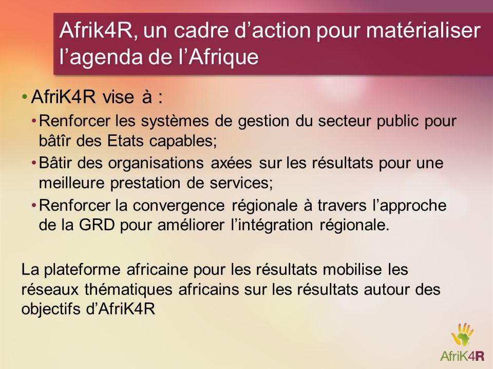 Afrik4R, un cadre d'action pour matérialiser l'agenda de l'Afrique