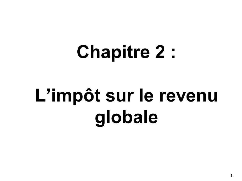 Chapitre 2 : L'impôt sur le revenu globale