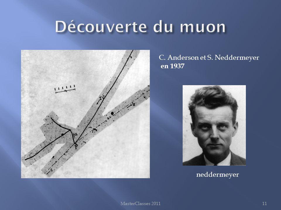 Découverte du muon C. Anderson et S. Neddermeyer en 1937 neddermeyer