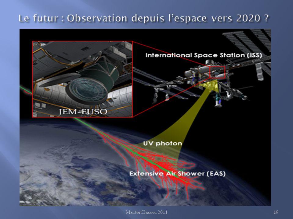 Le futur : Observation depuis l'espace vers 2020