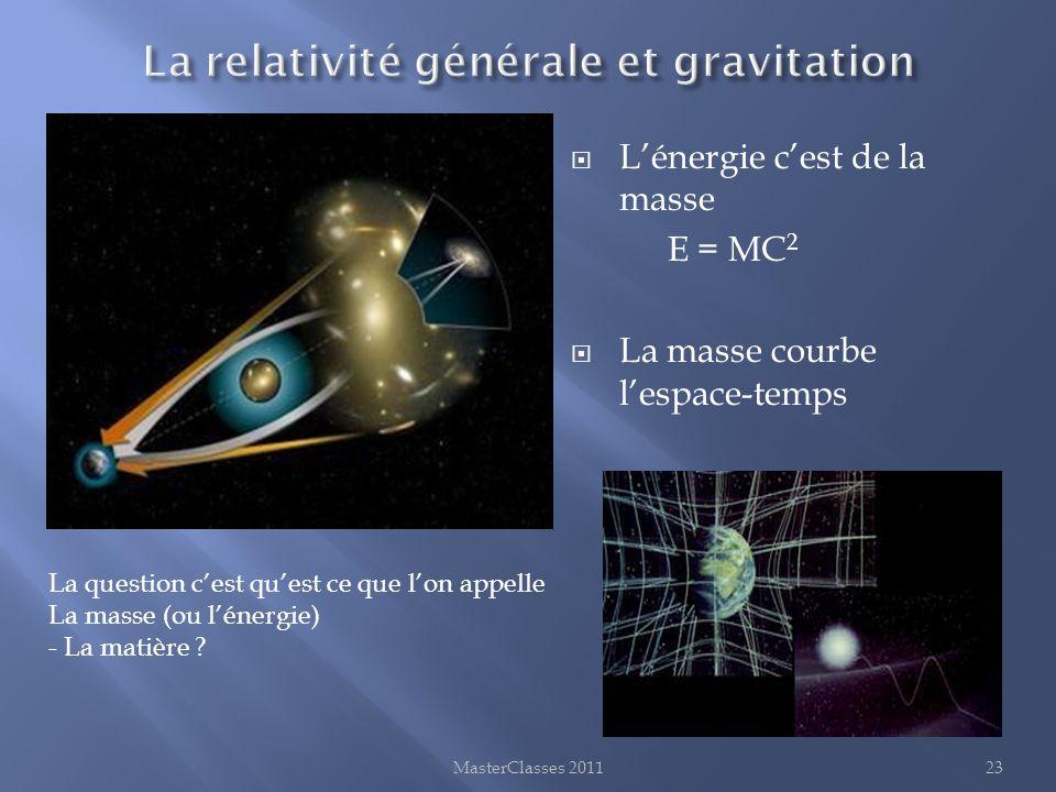La relativité générale et gravitation