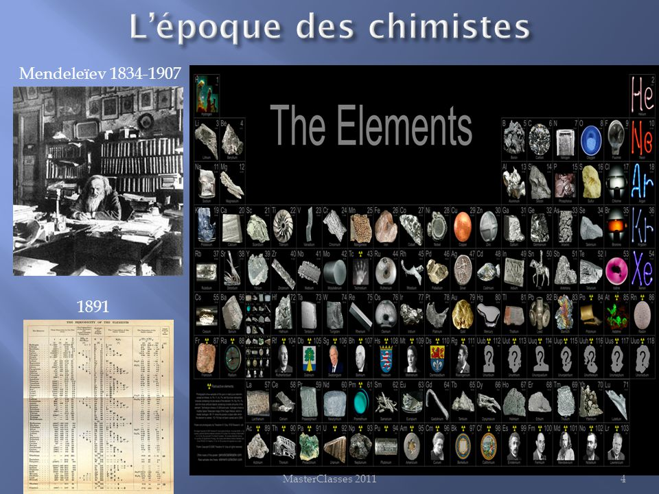 L'époque des chimistes