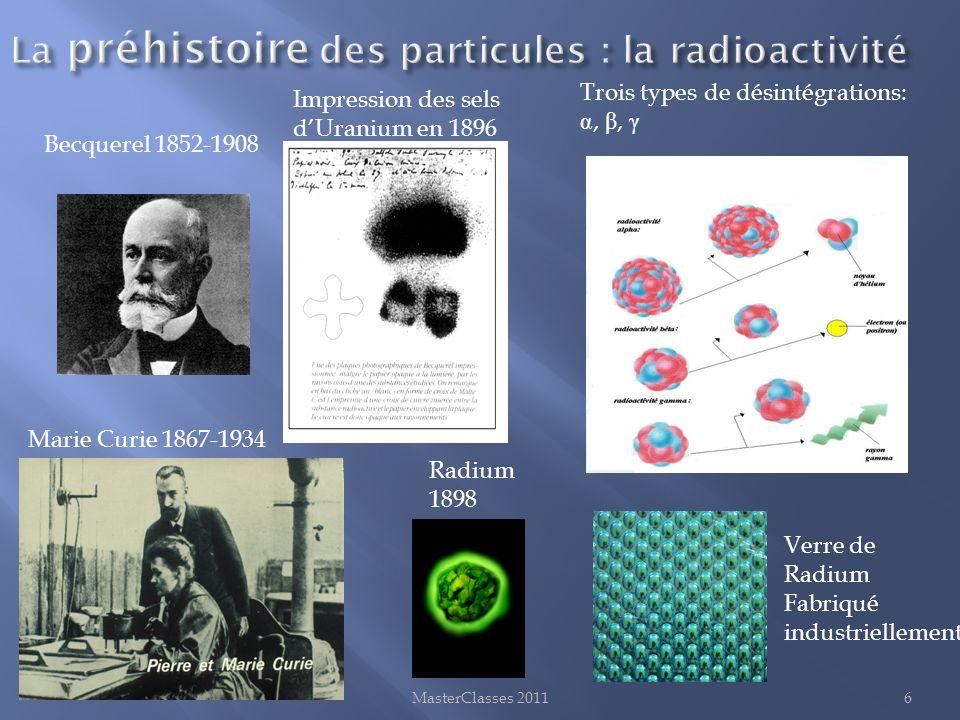 La préhistoire des particules : la radioactivité