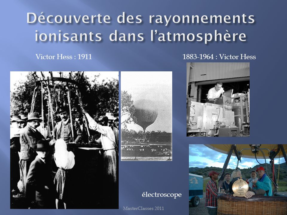Découverte des rayonnements ionisants dans l'atmosphère