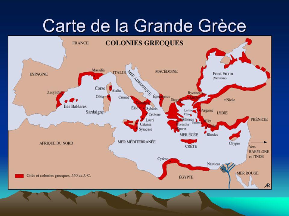 Carte de la Grande Grèce