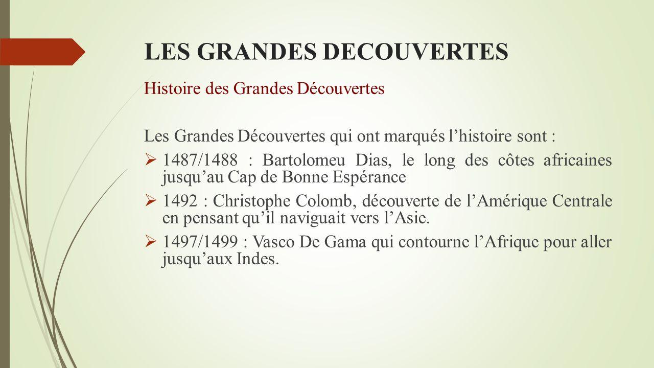 LES GRANDES DECOUVERTES