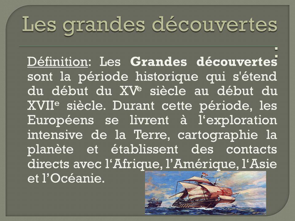 Les grandes découvertes :