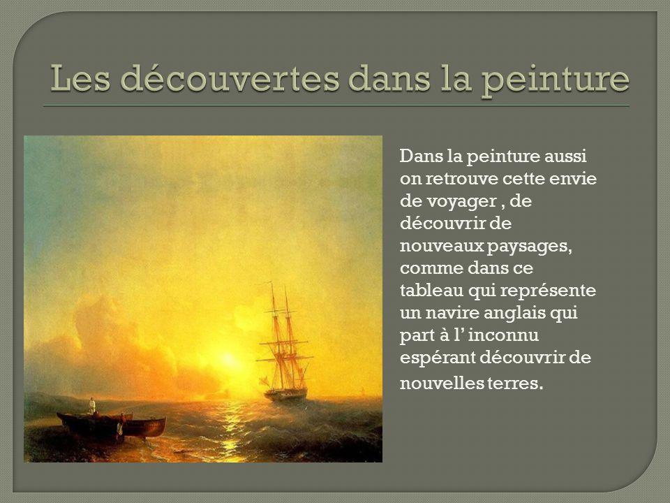 Les découvertes dans la peinture