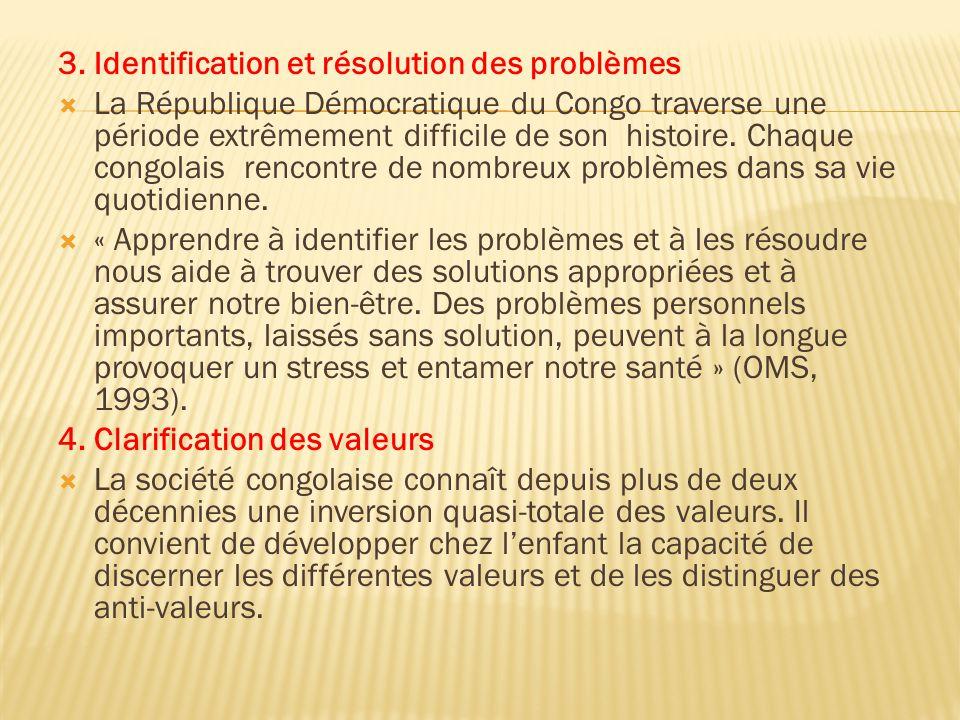 3. Identification et résolution des problèmes