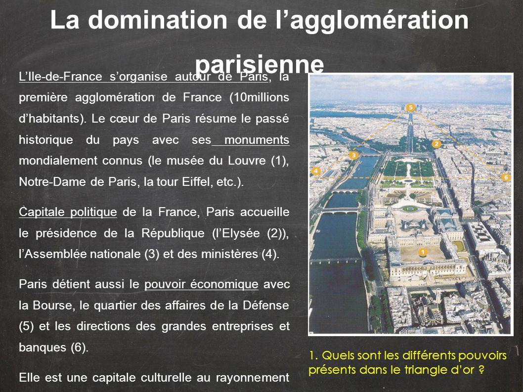 La domination de l'agglomération parisienne