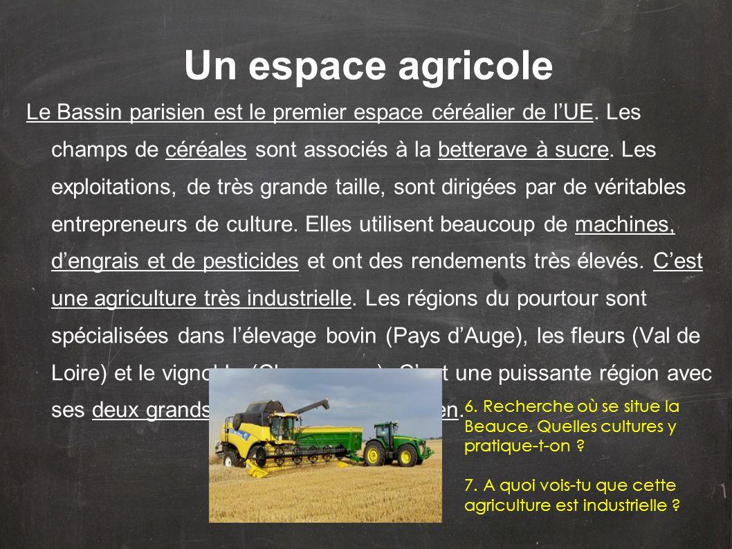 Un espace agricole