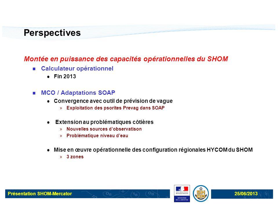 Perspectives Montée en puissance des capacités opérationnelles du SHOM