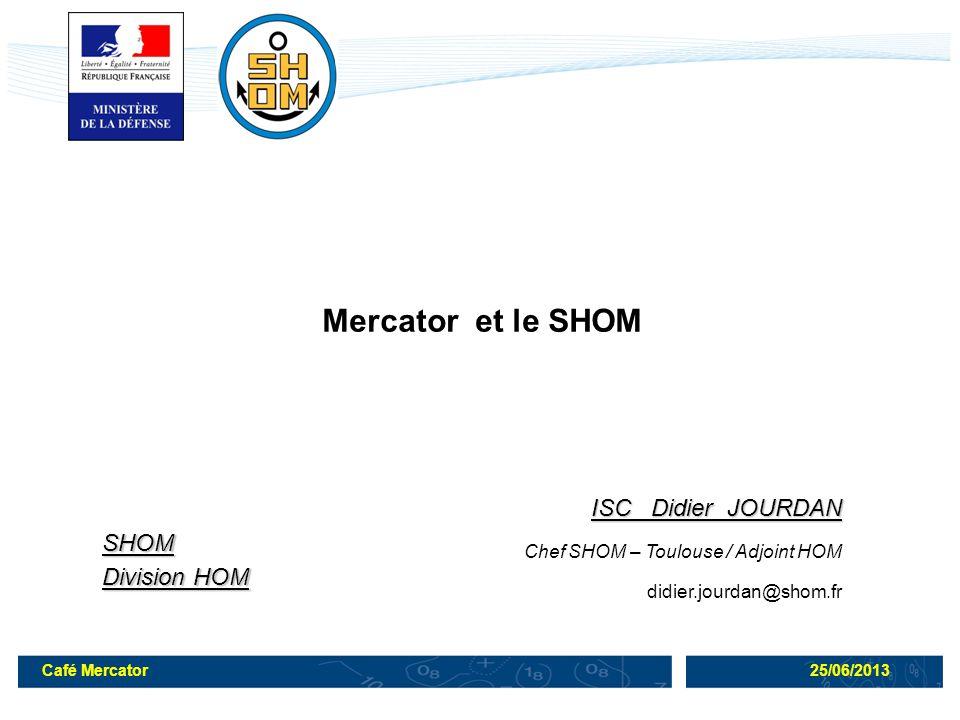 Mercator et le SHOM