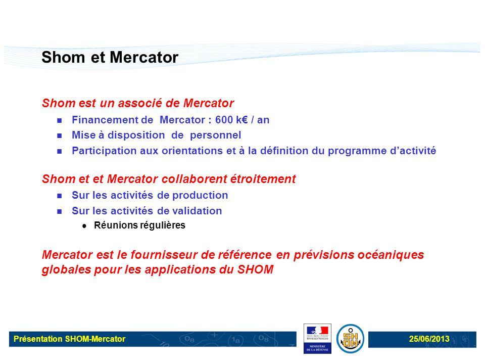 Shom et Mercator Shom est un associé de Mercator