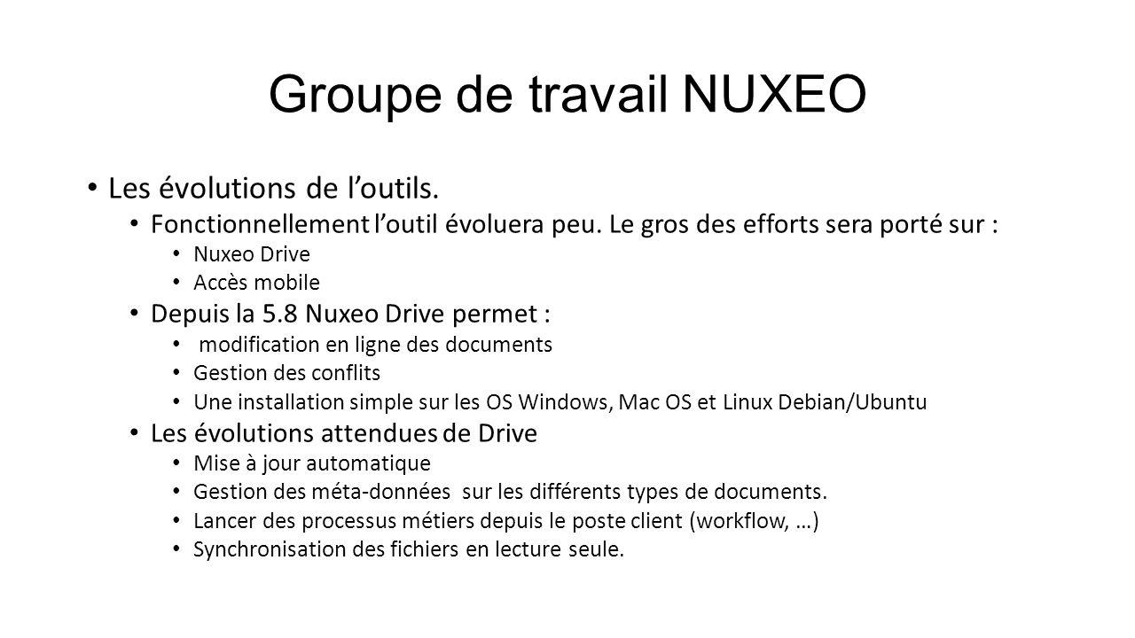 Groupe de travail NUXEO
