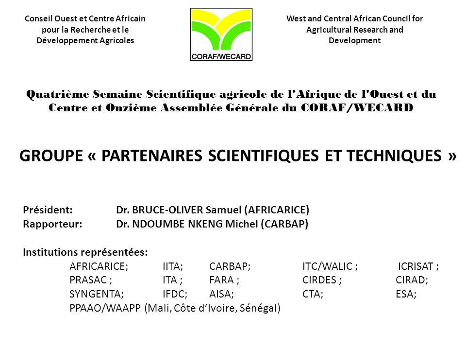 GROUPE « PARTENAIRES SCIENTIFIQUES ET TECHNIQUES »