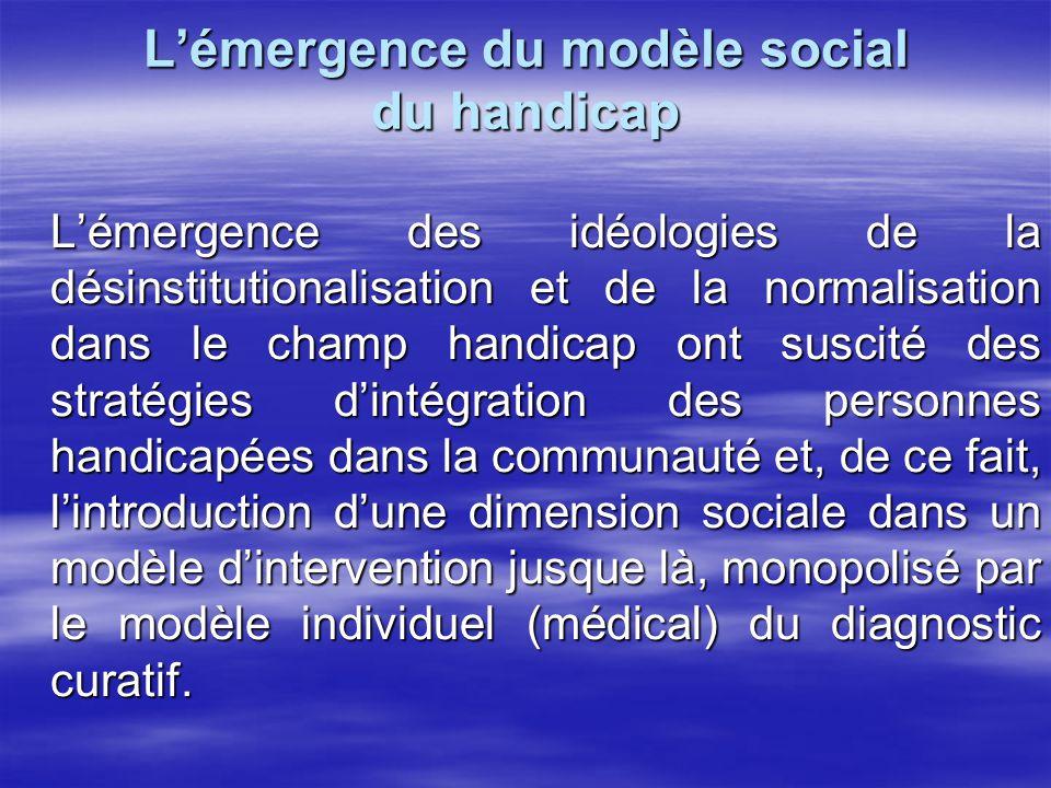 L'émergence du modèle social du handicap