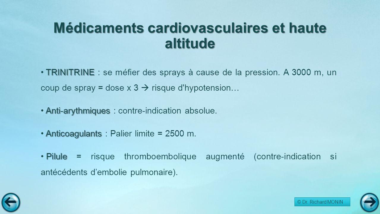 Médicaments cardiovasculaires et haute altitude