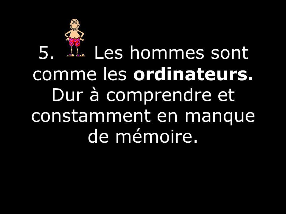5. Les hommes sont comme les ordinateurs