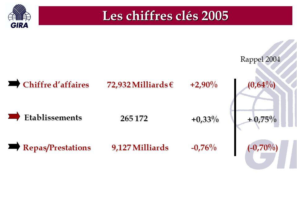 Les chiffres clés 2005 Chiffre d'affaires 72,932 Milliards € +2,90%