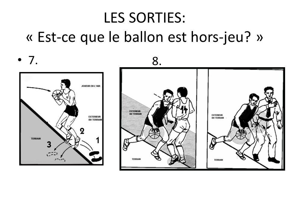 LES SORTIES: « Est-ce que le ballon est hors-jeu »