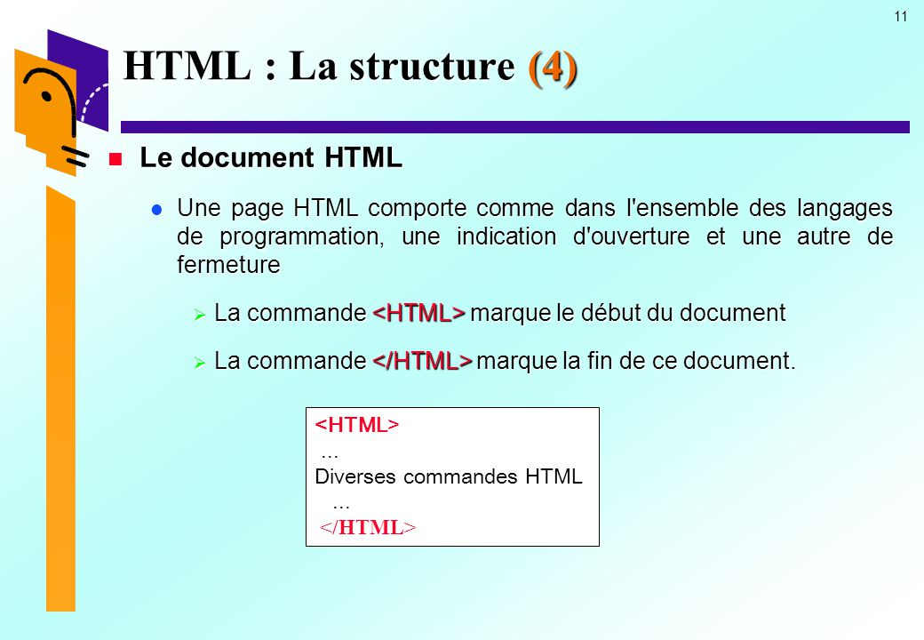HTML : La structure (4) Le document HTML