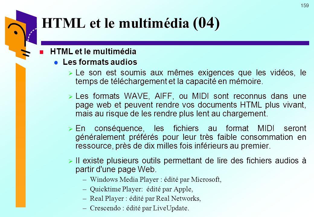 HTML et le multimédia (04)