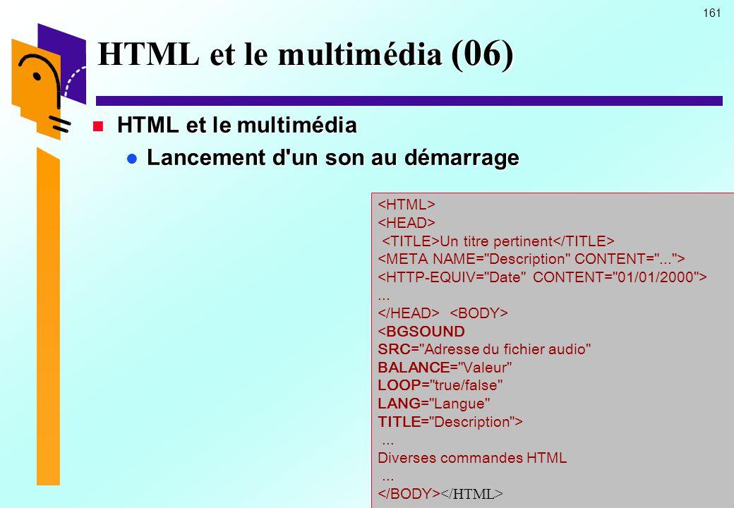 HTML et le multimédia (06)