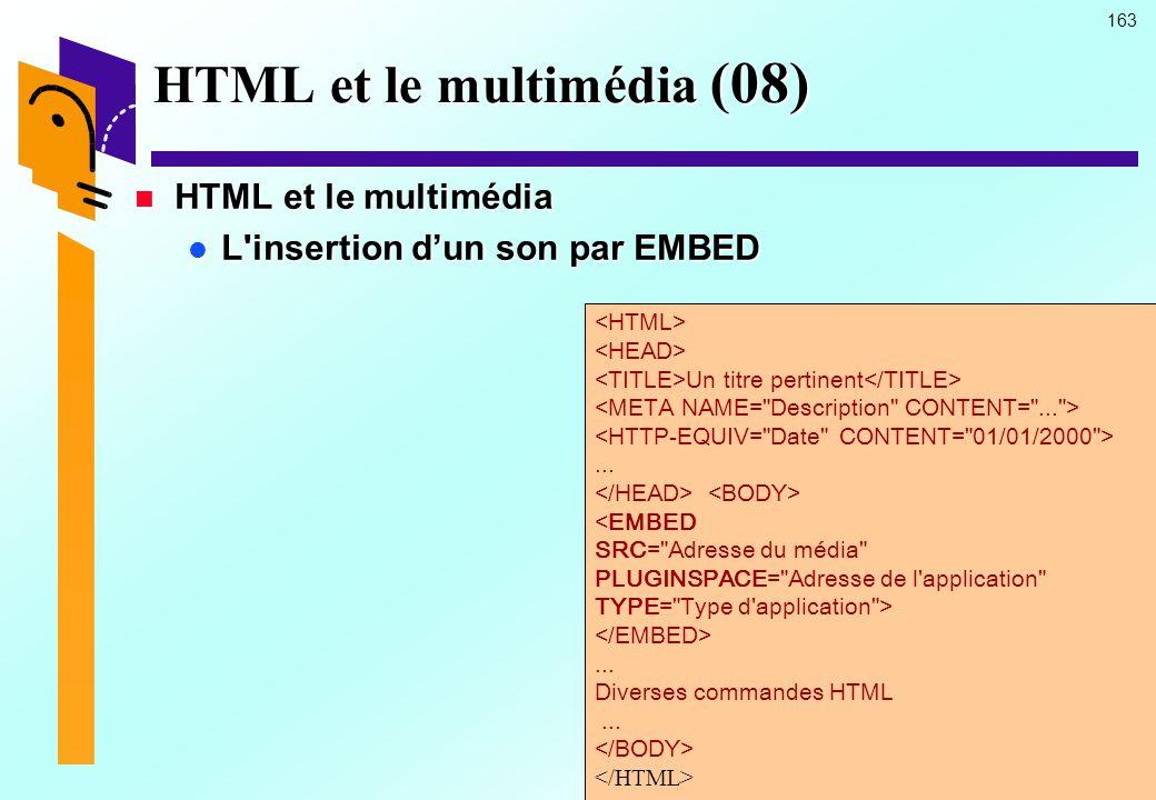 HTML et le multimédia (08)