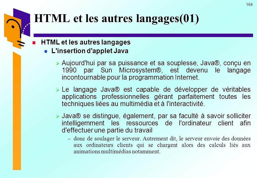 HTML et les autres langages(01)