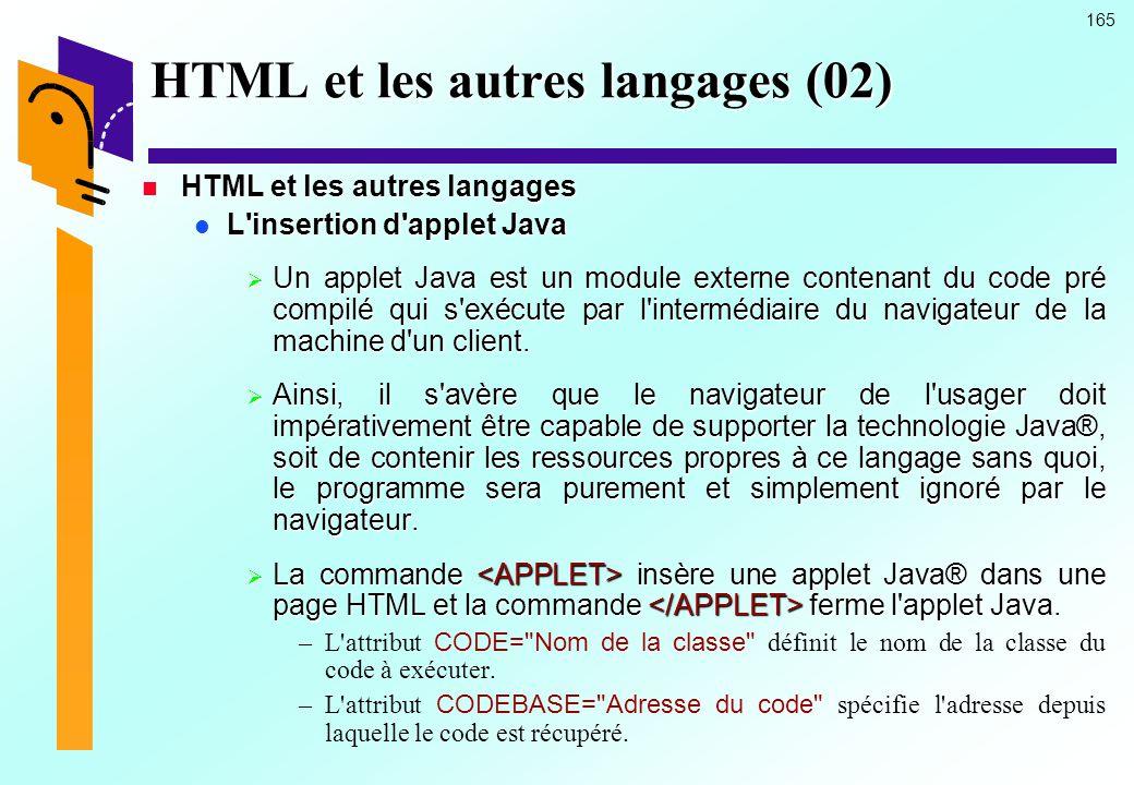 HTML et les autres langages (02)