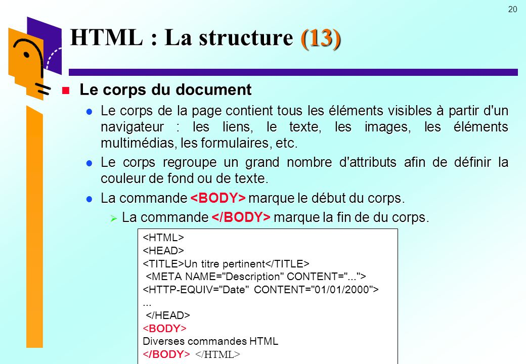 HTML : La structure (13) Le corps du document