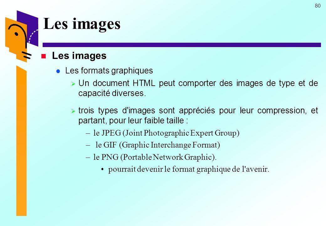 Les images Les images Les formats graphiques