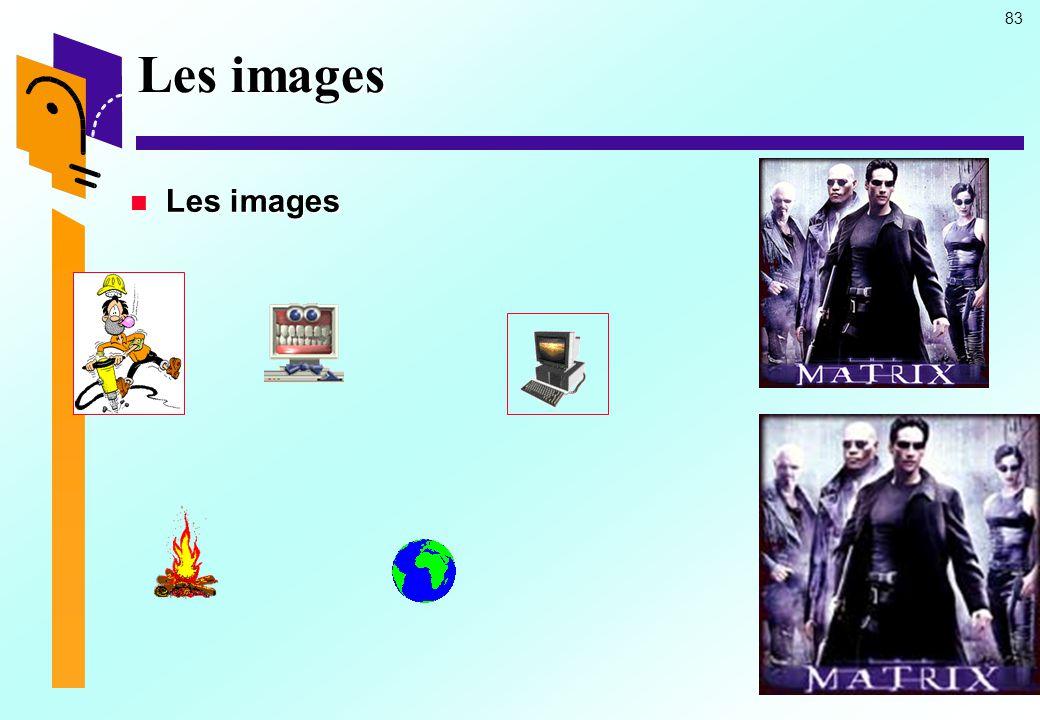 Les images Les images