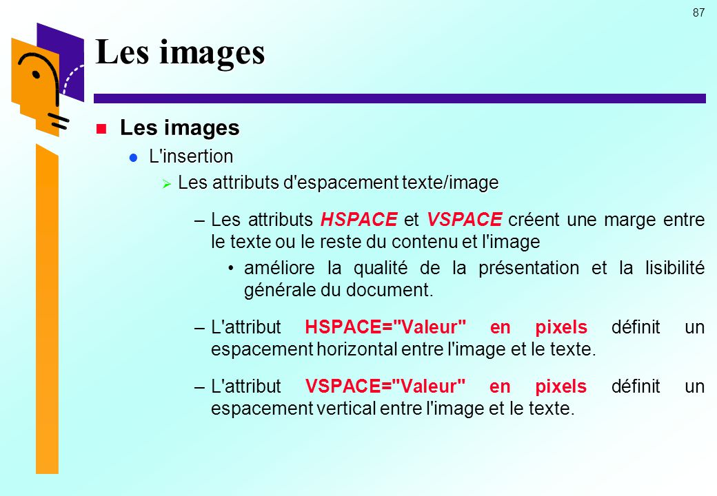 Les images Les images L insertion
