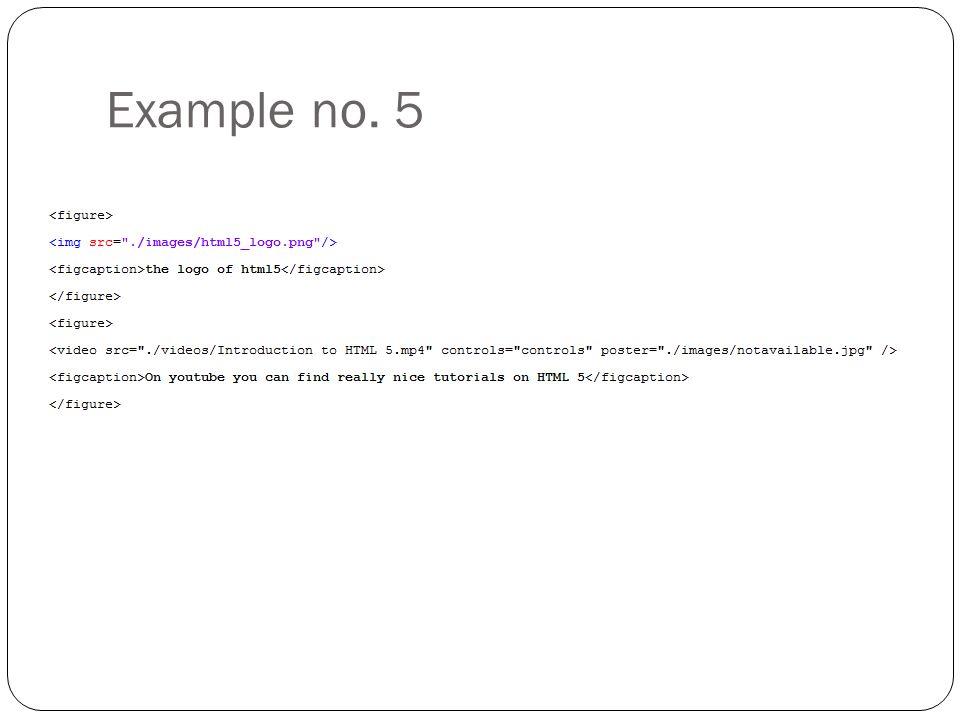 Example no. 5