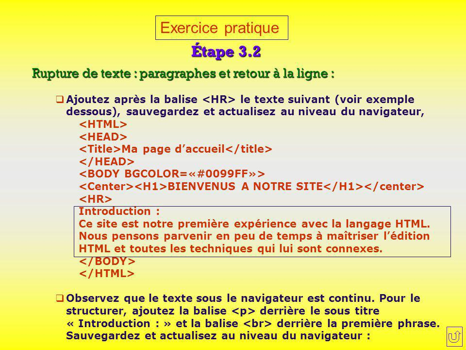 Exercice pratique Étape 3.2