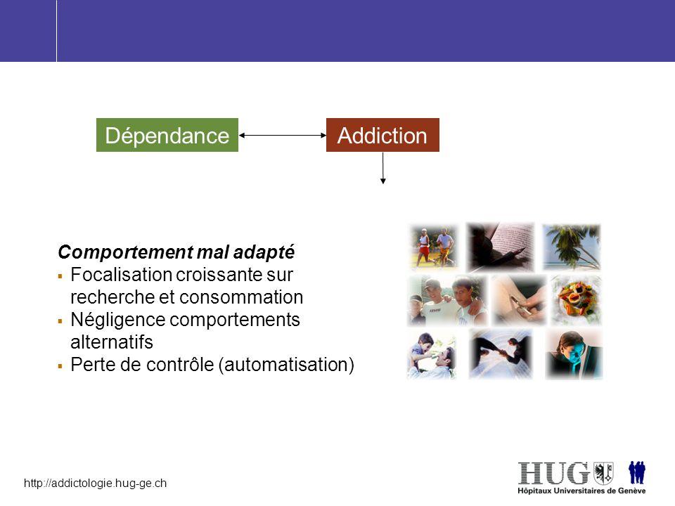 Dépendance Addiction Comportement mal adapté