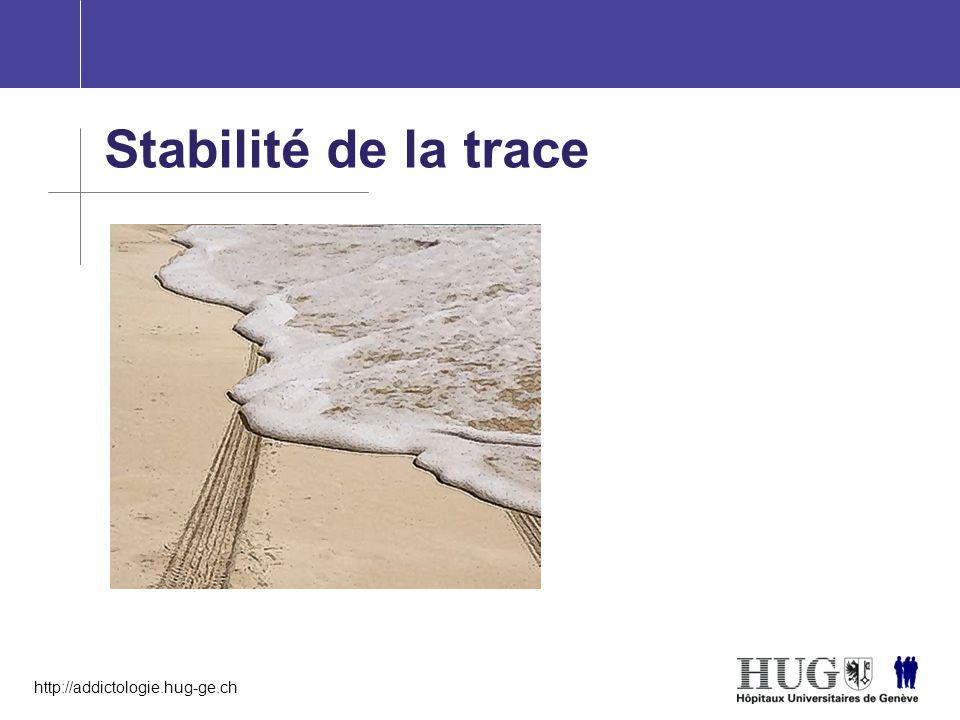 Stabilité de la trace