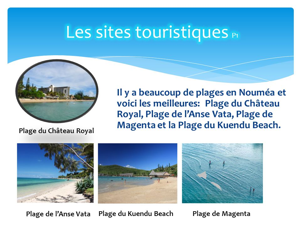 Les sites touristiques P1