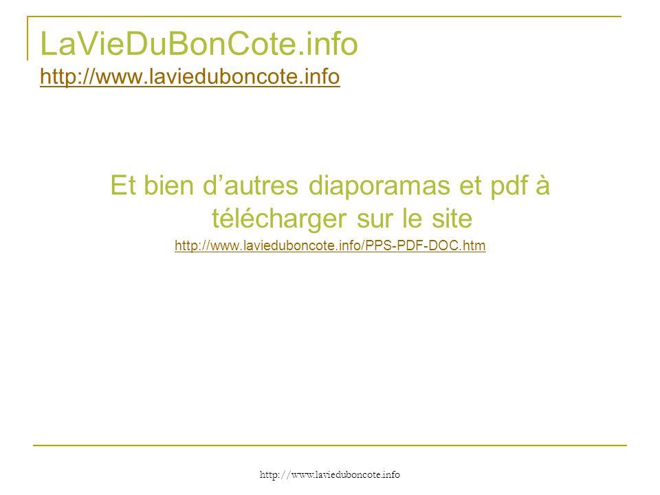 LaVieDuBonCote.info http://www.lavieduboncote.info
