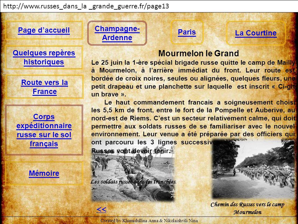 << http://www.russes_dans_la _grande_guerre.fr/page13