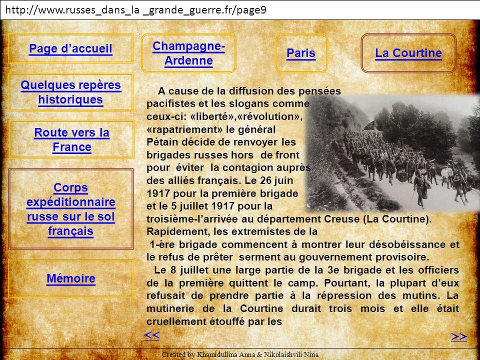 << >> http://www.russes_dans_la _grande_guerre.fr/page9