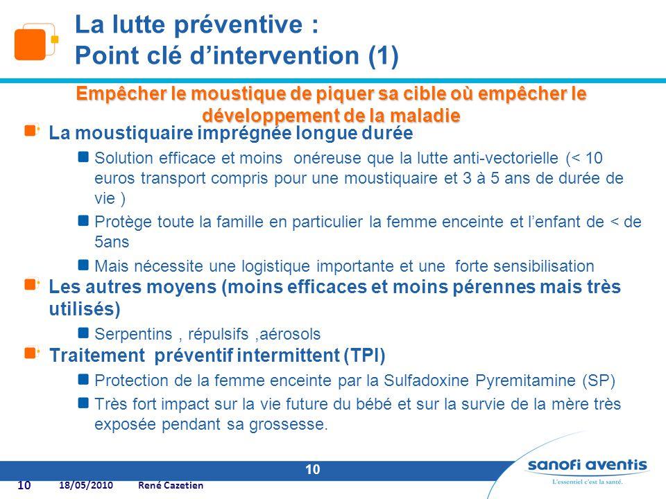 La lutte préventive : Point clé d'intervention (1)