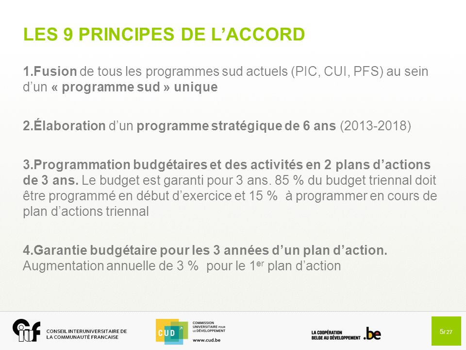 LES 9 PRINCIPES DE L'ACCORD