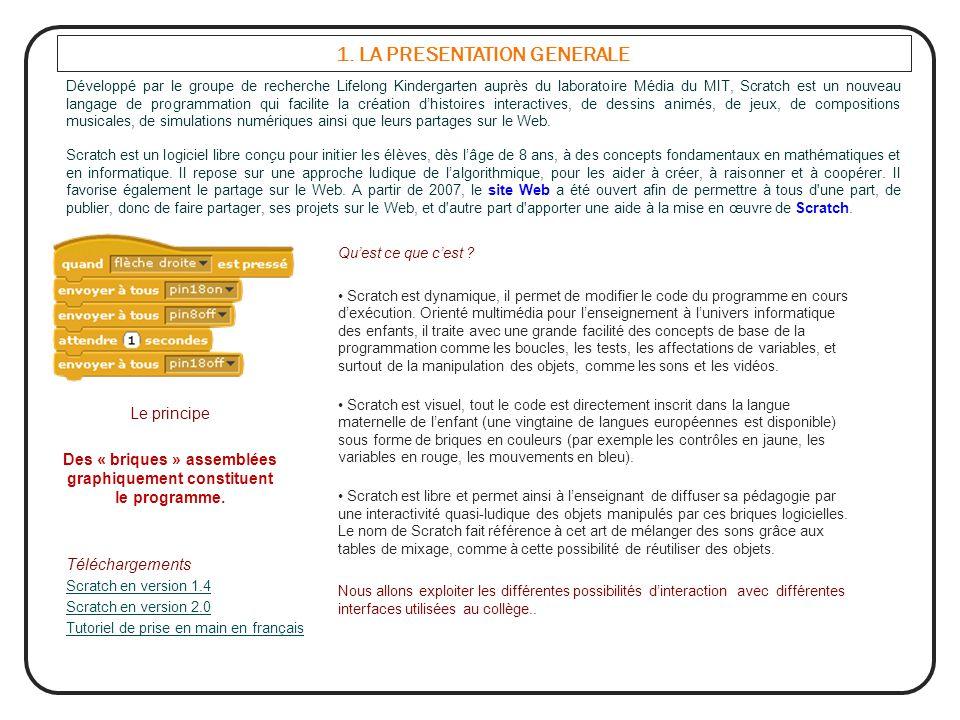 1. LA PRESENTATION GENERALE