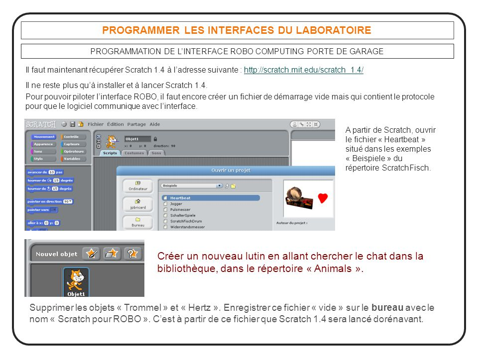 PROGRAMMER LES INTERFACES DU LABORATOIRE