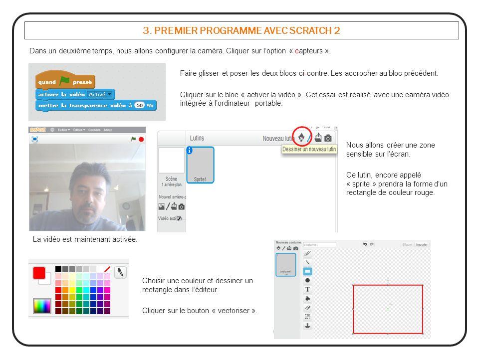 3. PREMIER PROGRAMME AVEC SCRATCH 2